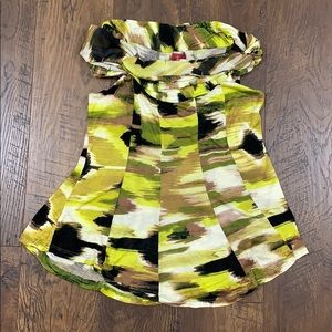 Anthro One September camouflage cowl neck top